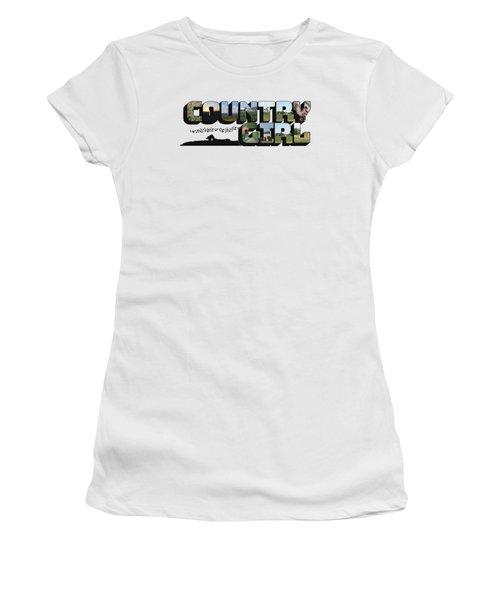 Country Girl Big Letter Women's T-Shirt
