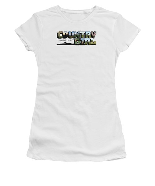 Country Girl Big Letter Women's T-Shirt