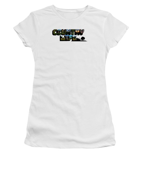Country Life Big Letter Women's T-Shirt