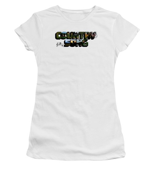 Country Song Big Letter Women's T-Shirt