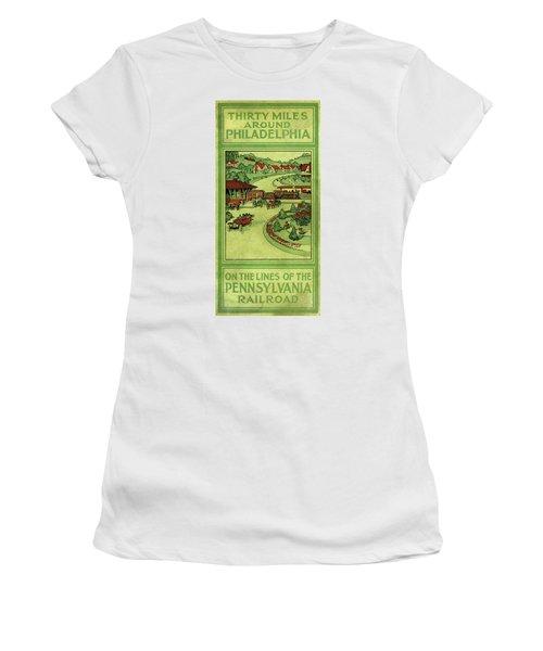 Cover Of Thirty Miles Around Philadelphia Women's T-Shirt