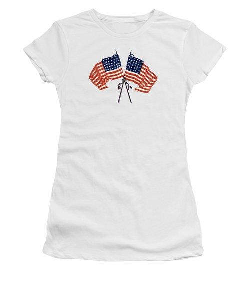 Crossed Civil War Union Flags 1861 - T-shirt Women's T-Shirt