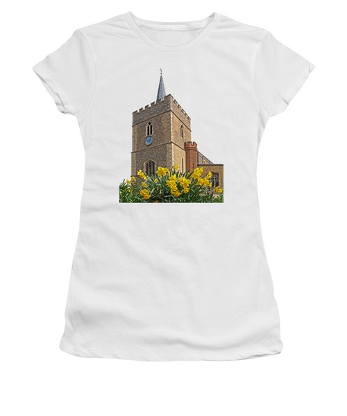 Daffodils Blooming At St. Mary's Church Women's T-Shirt