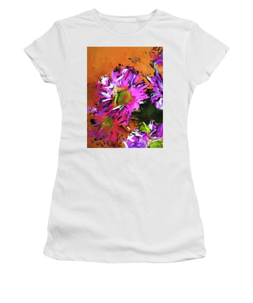 Daisy Rhapsody In Lavender And Pink Women's T-Shirt (Athletic Fit)