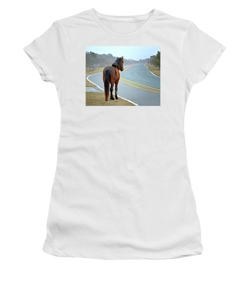 Delegats's Pride Looking For Visitors To Assateague Island Women's T-Shirt