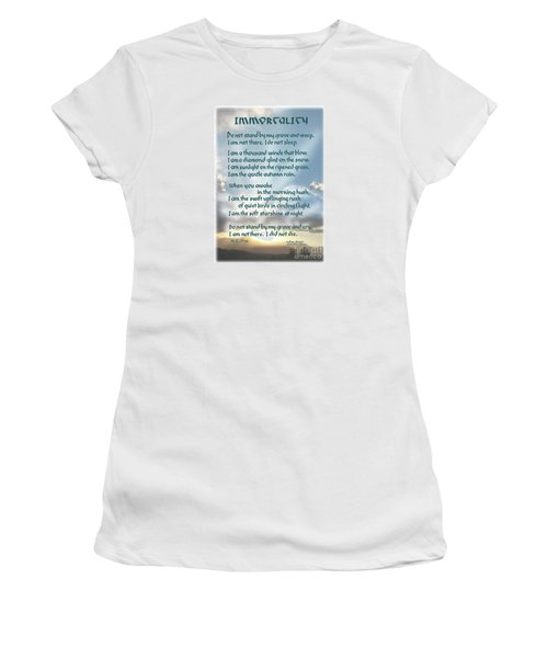 Do Not Stand At My Grave And Weep Women's T-Shirt