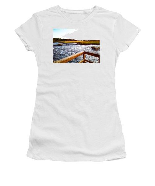 Women's T-Shirt featuring the photograph Dock Point by Robert Knight