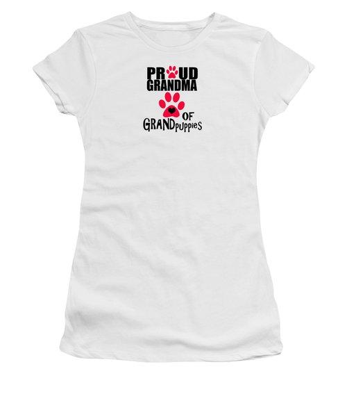 Dog Gifts And Ideas Proud Grandma Of Grandpuppies Women's T-Shirt