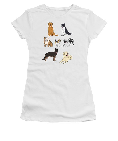 Dog Pattern Women's T-Shirt