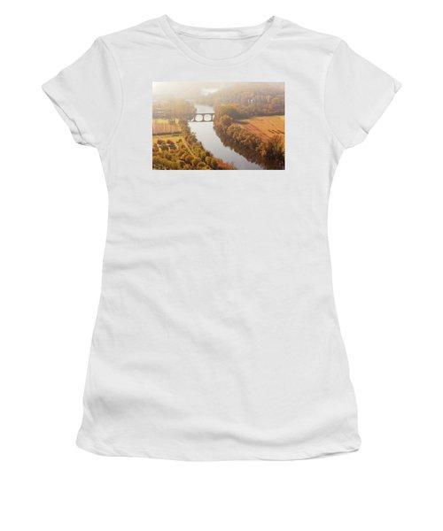 Dordogne River In The Mist Women's T-Shirt