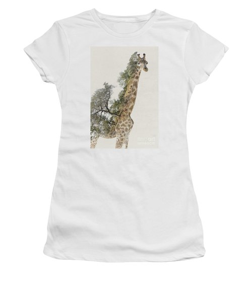 Double Exposure Giraffe Women's T-Shirt