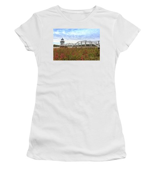 Doubling Point Lighthouse In Maine Women's T-Shirt