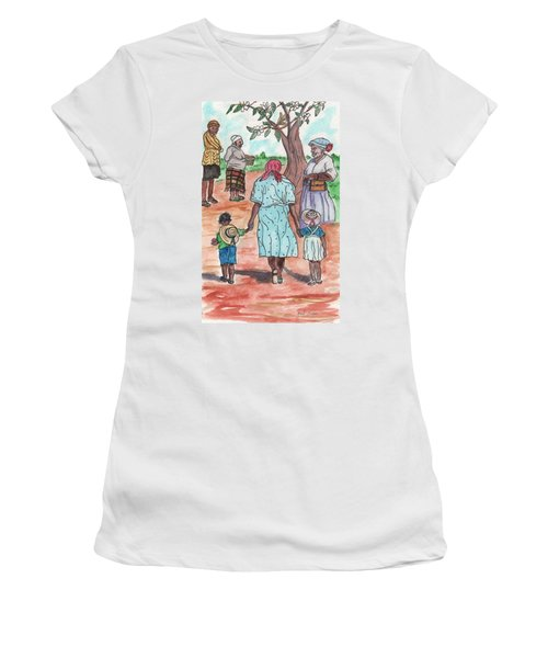 Down The Red Road And Past The Magnolia Tree Women's T-Shirt