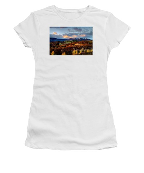 Dramatic Sunrise In The San Juan Mountains Of Colorado Women's T-Shirt