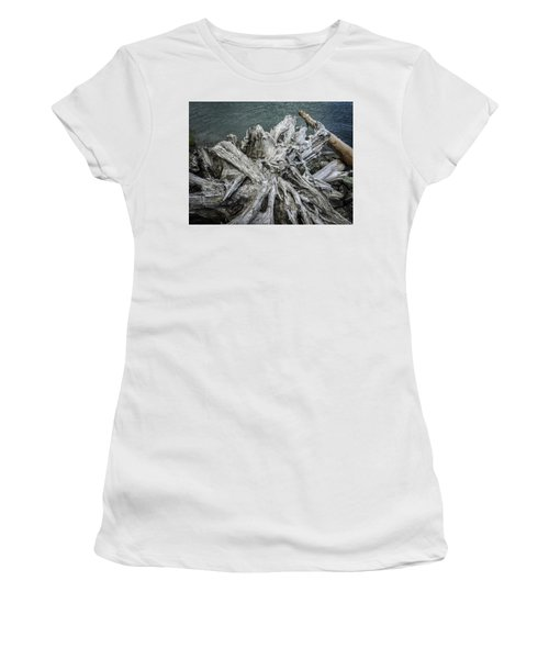 Women's T-Shirt (Athletic Fit) featuring the photograph Driftwood by Mark Duehmig