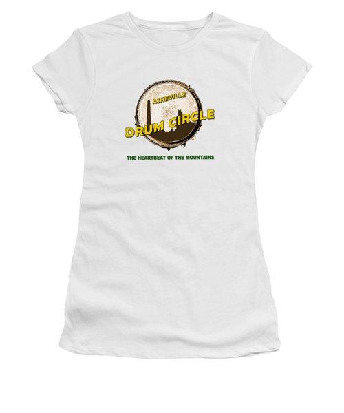 Drum Circle Logo Women's T-Shirt (Athletic Fit)