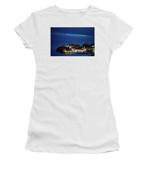 Dubrovnik Old Town At Night Women's T-Shirt