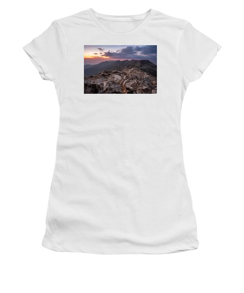 Dusk At Peak Vihren  Women's T-Shirt