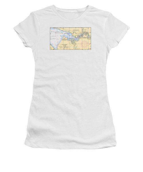 East Bay Extension Noaa Chart 11385_5 Women's T-Shirt
