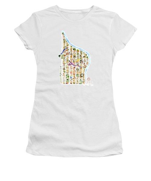 East Harlem Map Women's T-Shirt