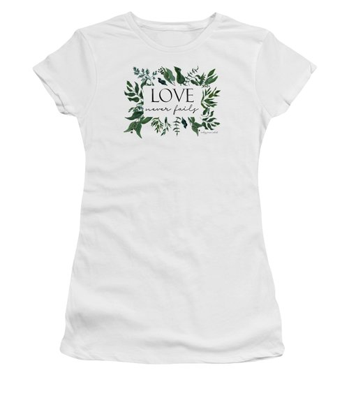Emerald Wild Forest Foliage 2 Watercolor Women's T-Shirt