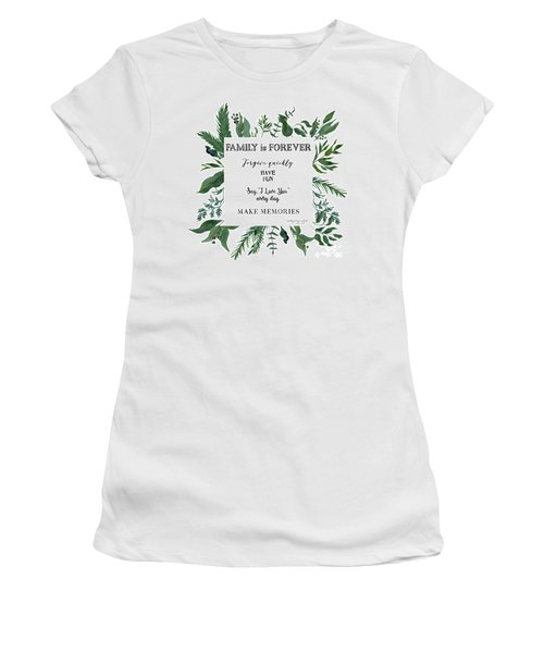 Emerald Wild Forest Foliage 3 Watercolor Women's T-Shirt