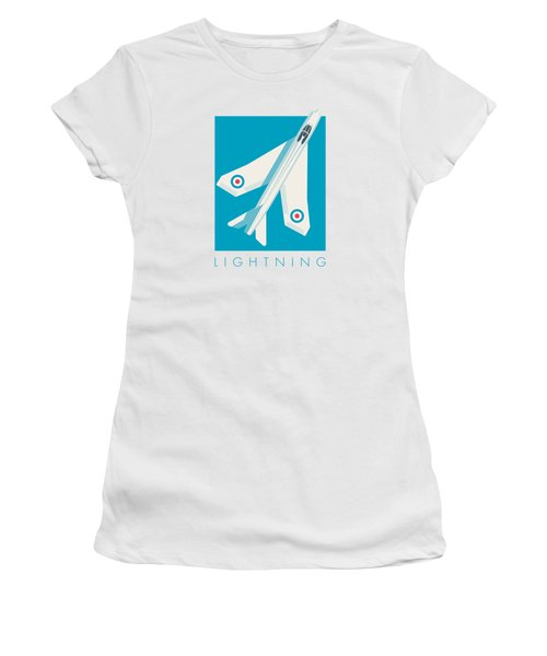 English Electric Lightning Fighter Jet Aircraft - Blue Women's T-Shirt