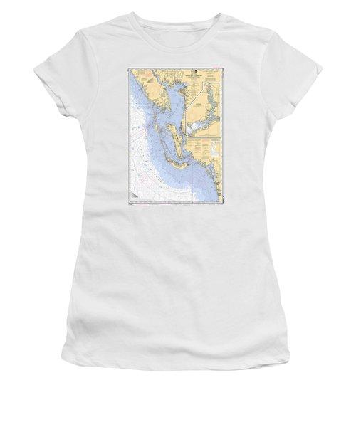 Estero Bay To Lemon Bay, Noaa Chart 11426 Women's T-Shirt