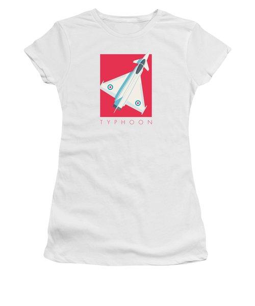 Typhoon Jet Fighter Aircraft - Crimson Women's T-Shirt
