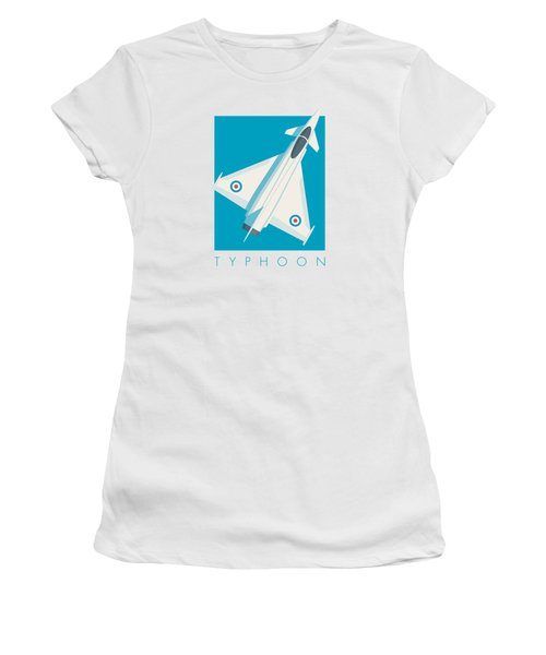 Typhoon Jet Fighter Aircraft - Cyan Women's T-Shirt