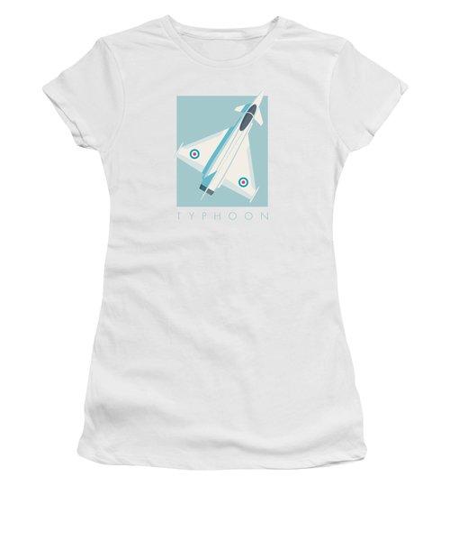 Typhoon Jet Fighter Aircraft - Sky Women's T-Shirt