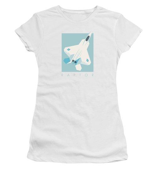 F22 Raptor Jet Fighter Aircraft - Sky Women's T-Shirt