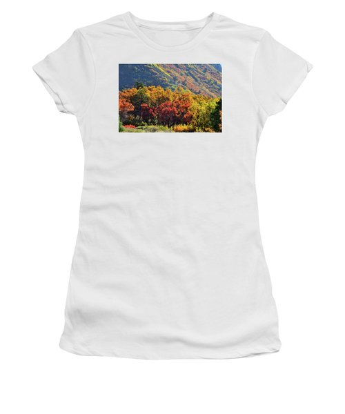 Fall Colors Along Avalanche Creek Road Women's T-Shirt