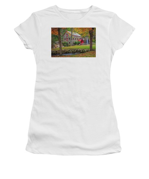 Fall Foliage At The Grist Mill Women's T-Shirt