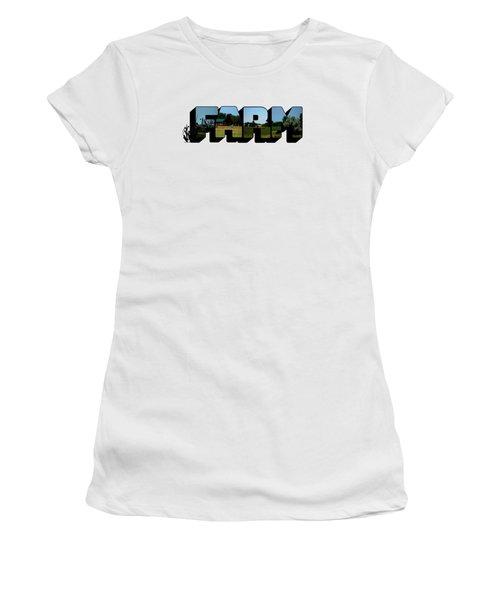 Farm Big Letter Women's T-Shirt