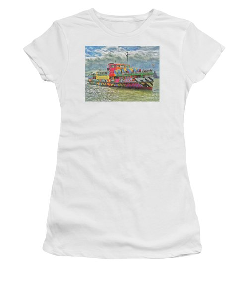Women's T-Shirt featuring the photograph Ferry Across The Mersey by Leigh Kemp