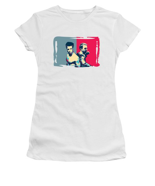 Fight Club Revisited - Tyler Durden And The Narrator Back To Back Women's T-Shirt