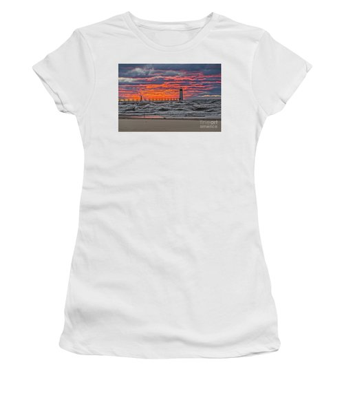 First Day Of Fall Sunset Women's T-Shirt