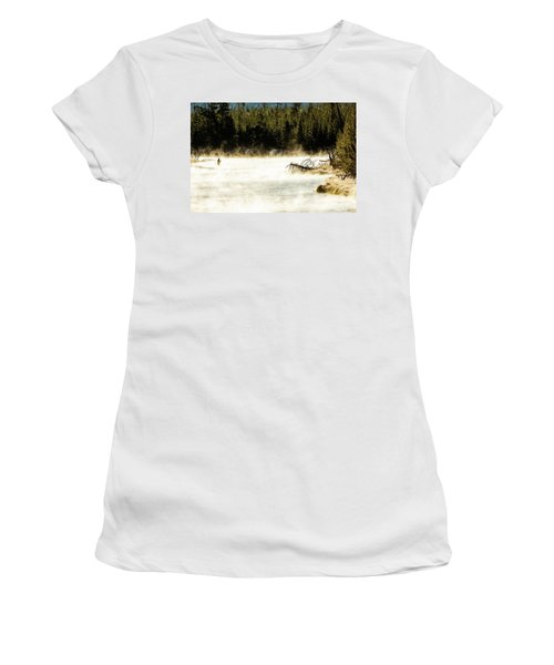 Women's T-Shirt (Athletic Fit) featuring the photograph First Fish by Pete Federico