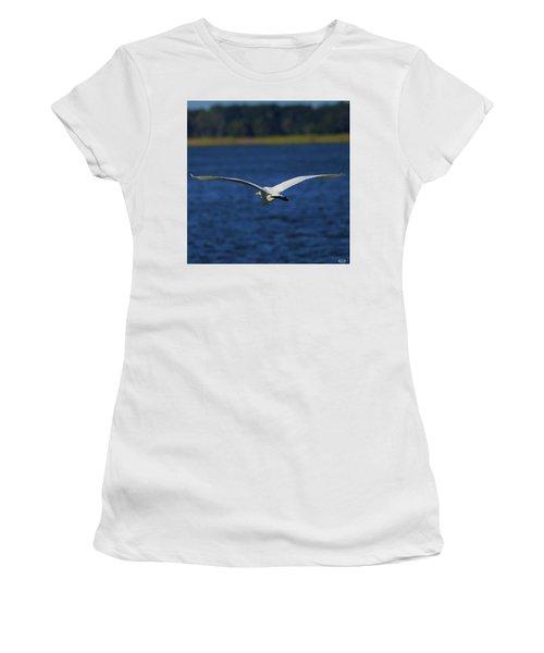 Flight Of The Egret Women's T-Shirt