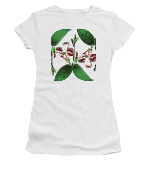Floral Bud With Multi Leaves Women's T-Shirt