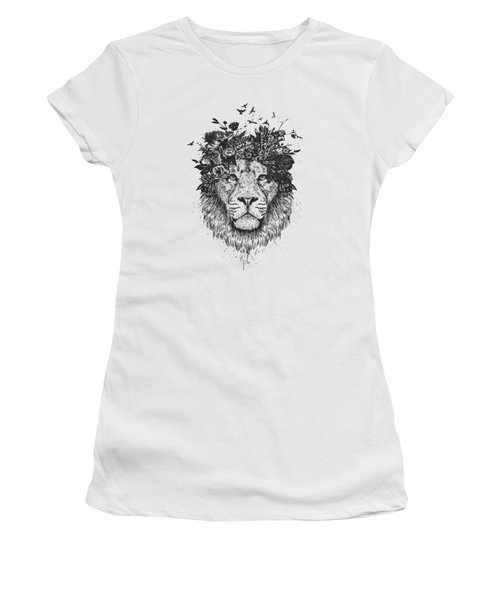 Floral Lion Women's T-Shirt