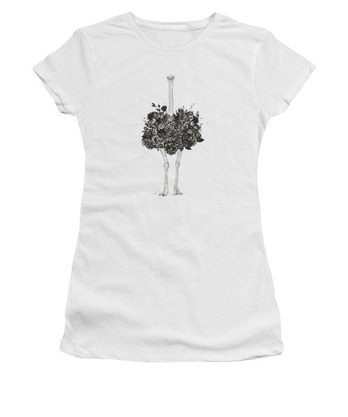 Floral Ostrich Women's T-Shirt
