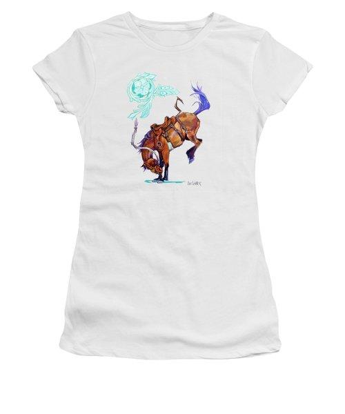 Flower Bronc 1 Women's T-Shirt