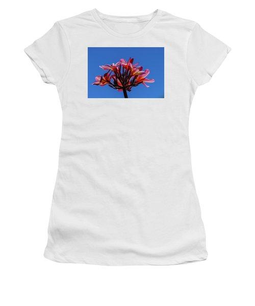 Flowers In Clear Blue Sky Women's T-Shirt