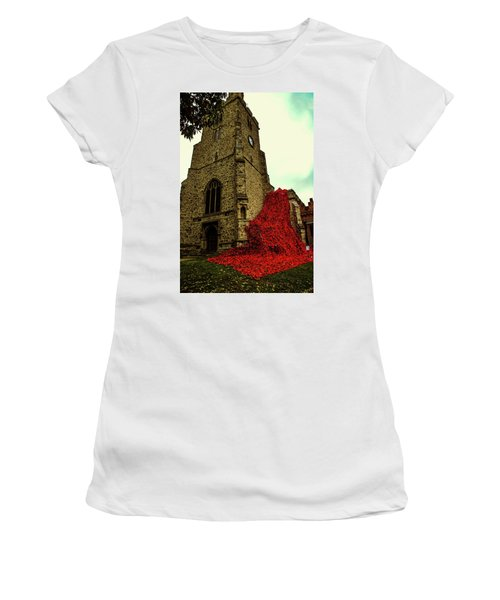 Flowing Poppies Women's T-Shirt