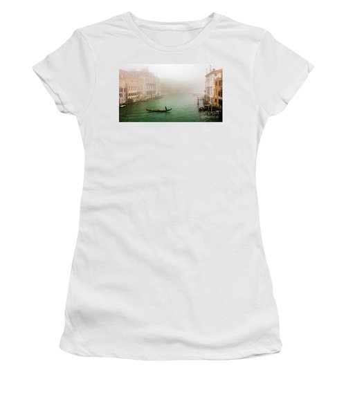 Foggy Morning On The Grand Canale, Venezia, Italy Women's T-Shirt