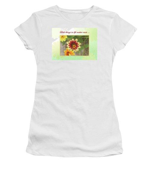 Friendship, A Smiling Indian Blanket Flower  Women's T-Shirt