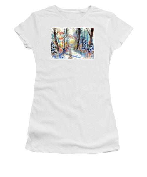 Frosty Blades Of Grass Women's T-Shirt