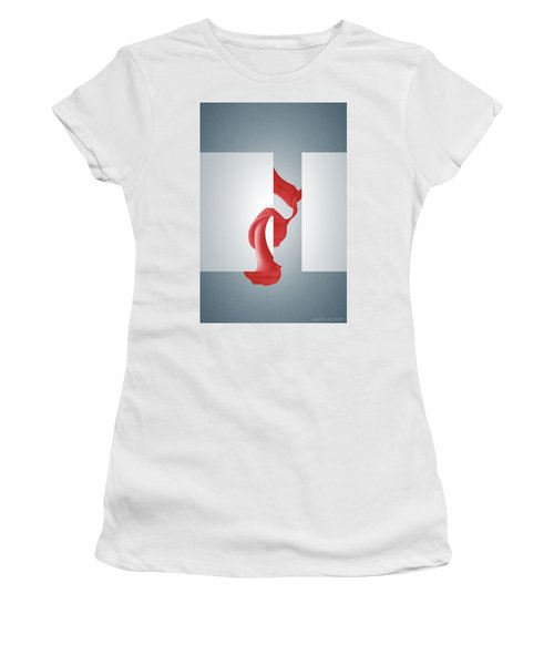 Fugue Mechanics - Surreal Abstract Seashell And Rectangles Women's T-Shirt